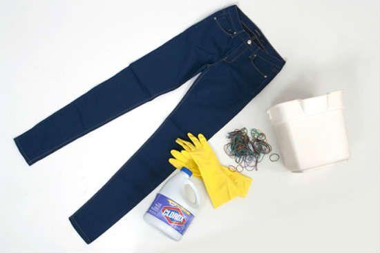 Все что нужно для отбеливания джинс фото