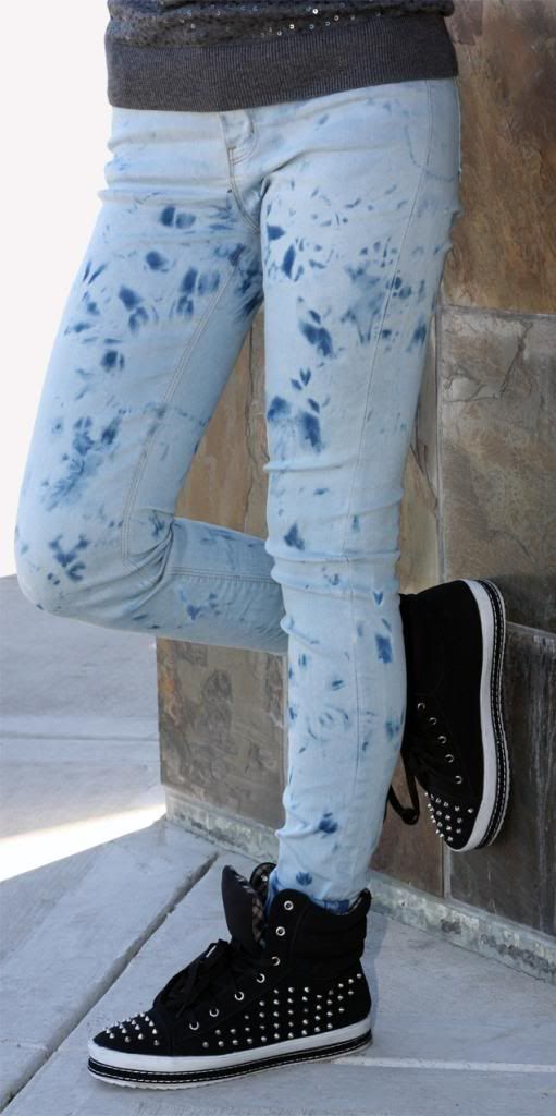Потертые джинсы сделанные своими руками фото
