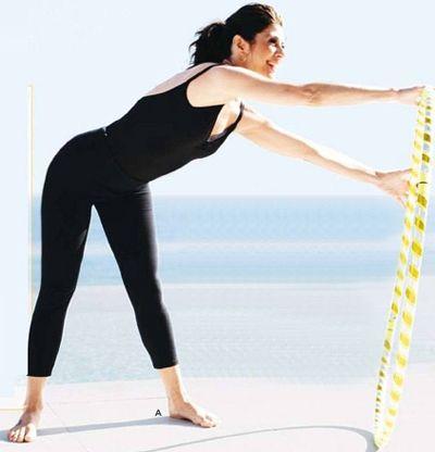 Упражнение с обручем вращение руля фото