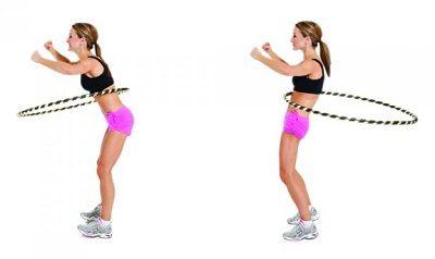 Упражнение вращения вперед-назад с обручем фото