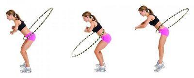 Упражнение вращения с наклоном с обручем фото