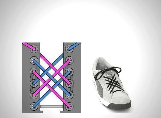 Решетчатая шнуровка фото