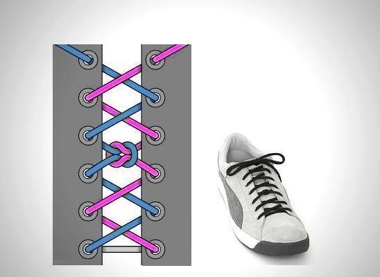 Узловая сегментная шнуровка фото