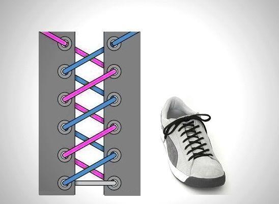 Спиралевидная шнуровка фото