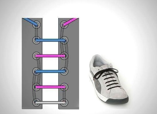 Прямая шнуровка фото