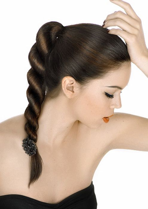 Коса спираль фото