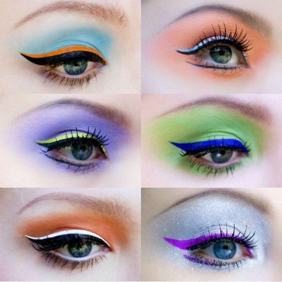 Цветные стрелки для глаз фото