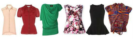 Блузы, кофты, топы для типа фигуры груша фото