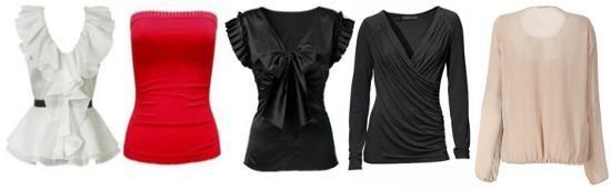 Блузы, кофты, топы для типа фигуры песочные часы фото