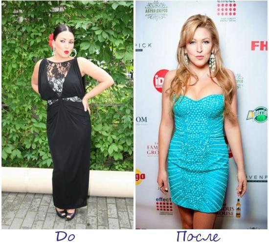 Ирина Дубцова фото до и после похудения