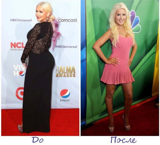 Кристина Агилера (Christina Aguilera) фото до и после похудения