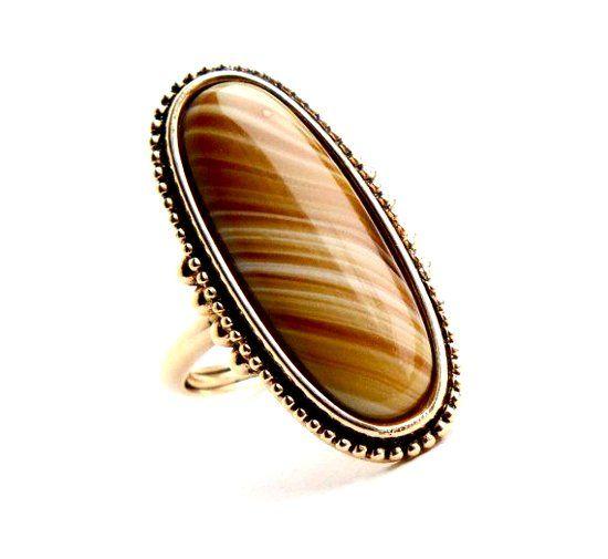 Кольцо с камнем агат фото