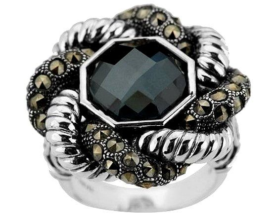 Кольцо с гематитом фото