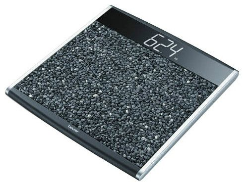 Напольные весы с поверхностью из натурального камня фото