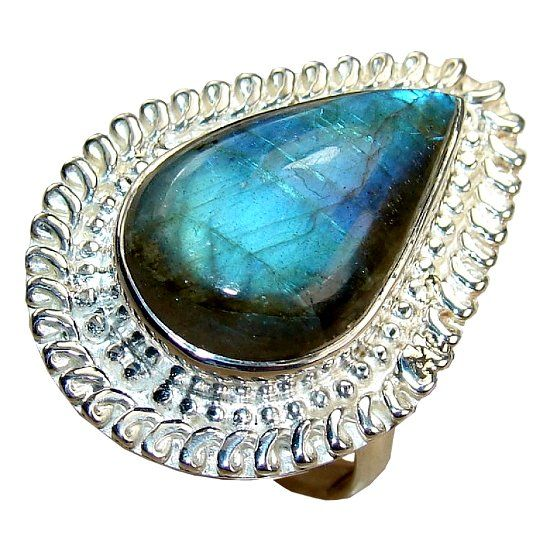 Кольцо с камнем лабрадор фото