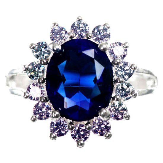 Перстень с сапфиром фото