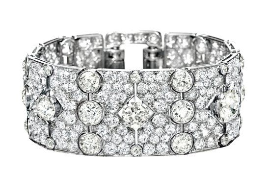 Браслет с алмазами фото