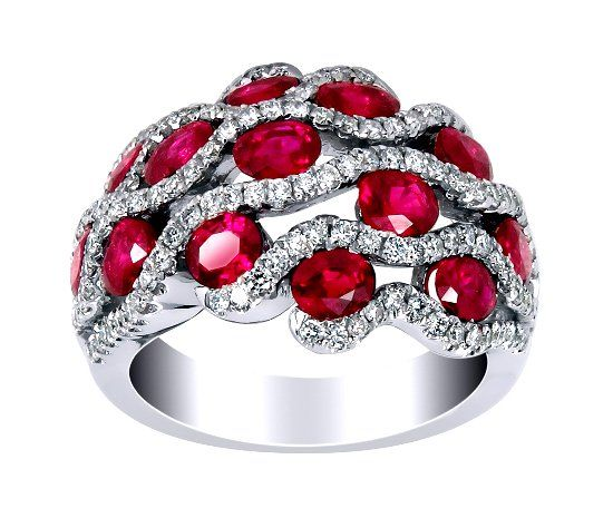 Кольцо с рубинами фото