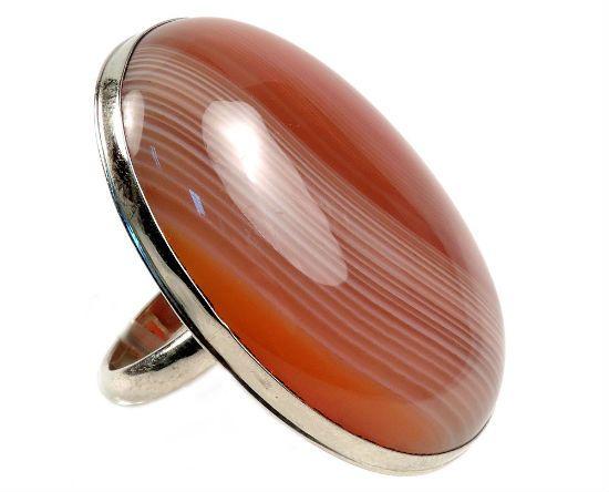 Кольцо с сардониксом фото