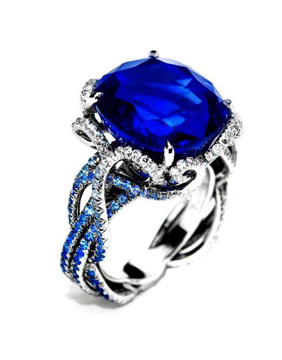 Кольцо с танзанитом фото