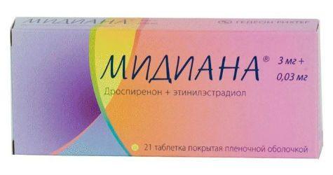 Таблетки Мидиана
