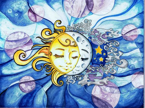 Сказка Как Солнце и Луна друг к другу в гости ходили