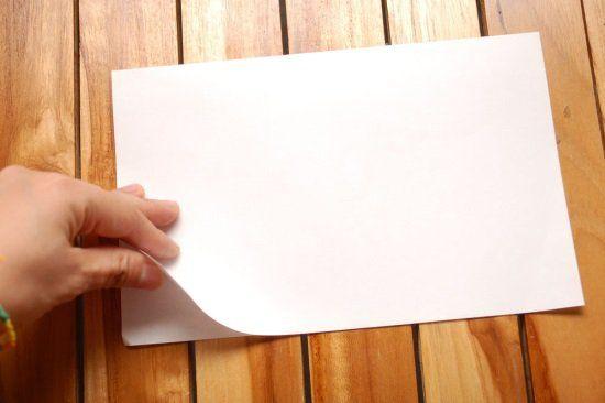 Кораблик из бумаги шаг 1