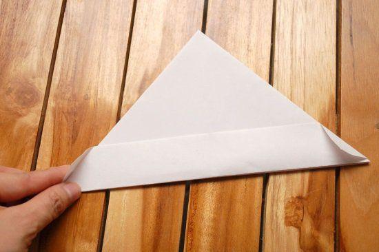 Кораблик из бумаги шаг 4
