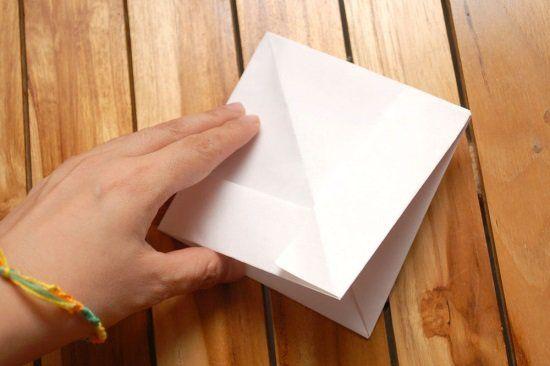 Кораблик из бумаги шаг 5