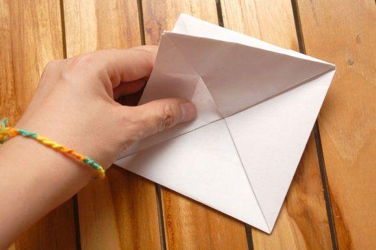 Кораблик из бумаги шаг 2