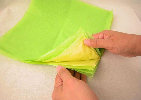 Гвоздика из бумаги вариант 2 шаг 1