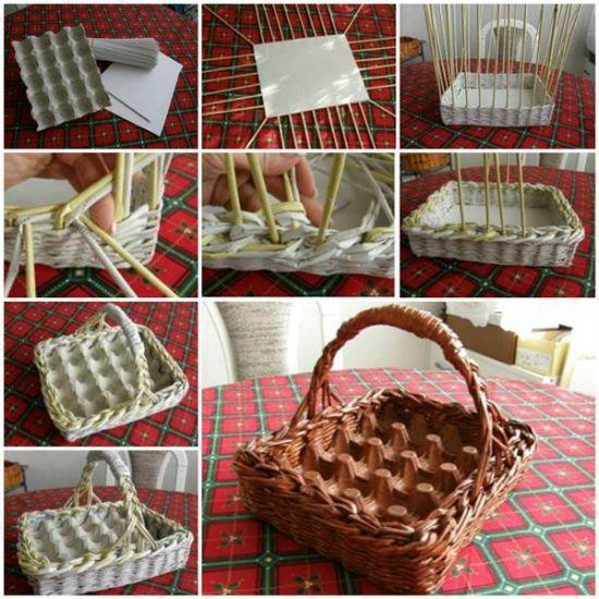 Изготовление корзинки для яиц