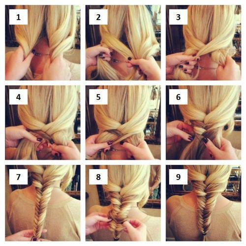Плетение косичек на длинные волосы 1