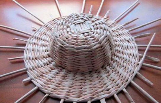 Плетение шляпы шаг 16