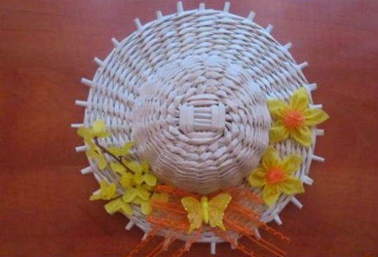 Плетение шляпы шаг 20
