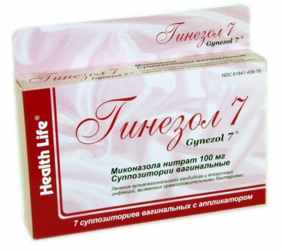Препарат от молочницы Гинезол 7