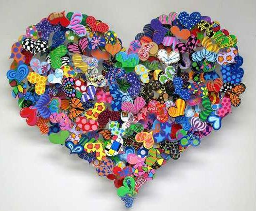 Разноцветное сердце