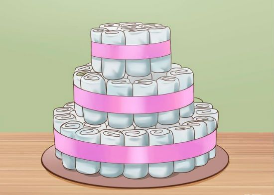 Торт из памперсов шаг 12