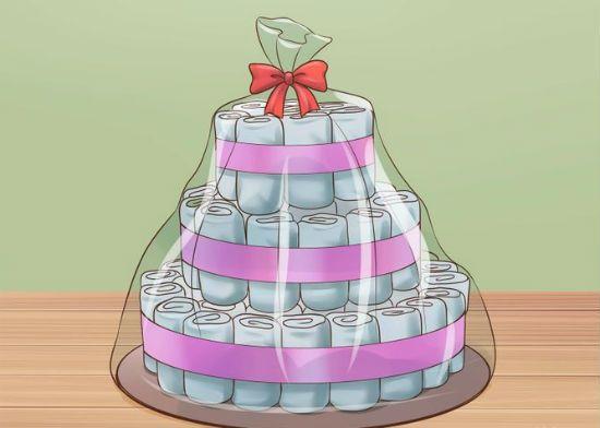 Торт из памперсов шаг 13