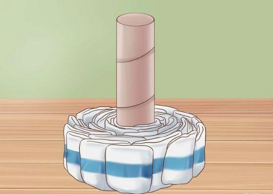Торт из памперсов шаг 3