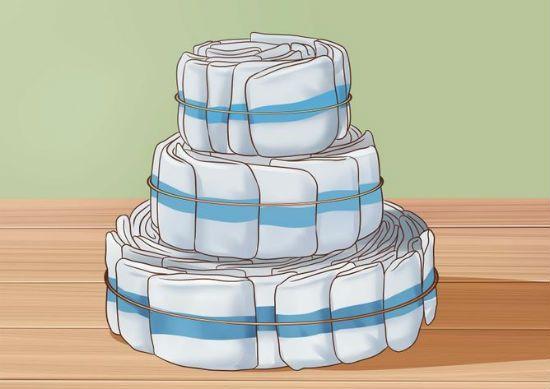 Торт из памперсов шаг 5