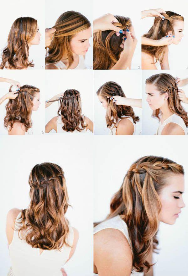 Плетение косы водопад фото