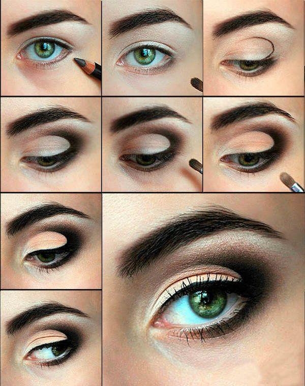 Контрастный макияж фото