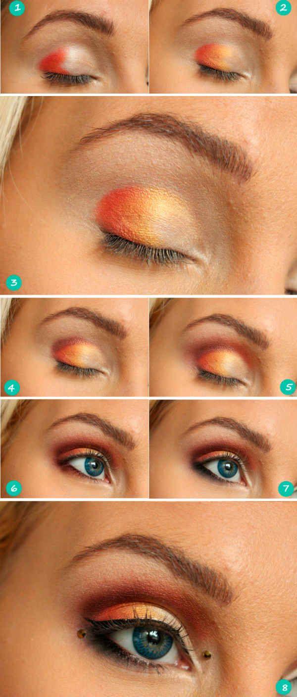 макияж с яркими тенями фото