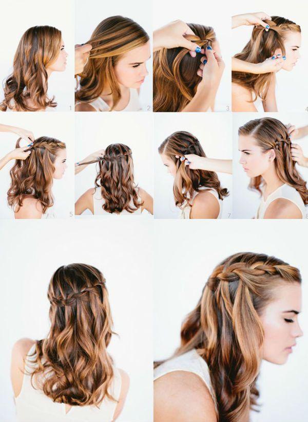 Прически на кучерявые волосы средней длины