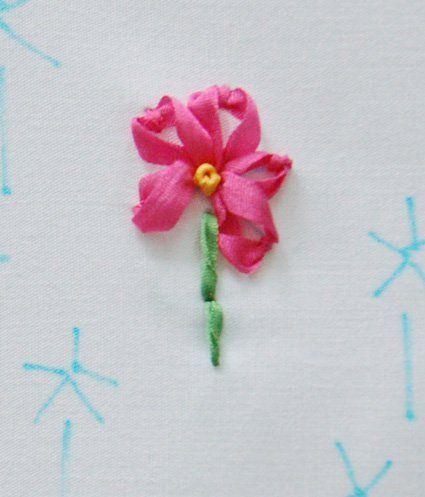 Готовый цветок со стеблем фото
