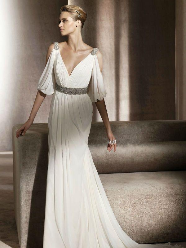 Свадебное платье ампир фото
