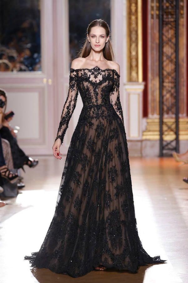 Черное платье ампир фото