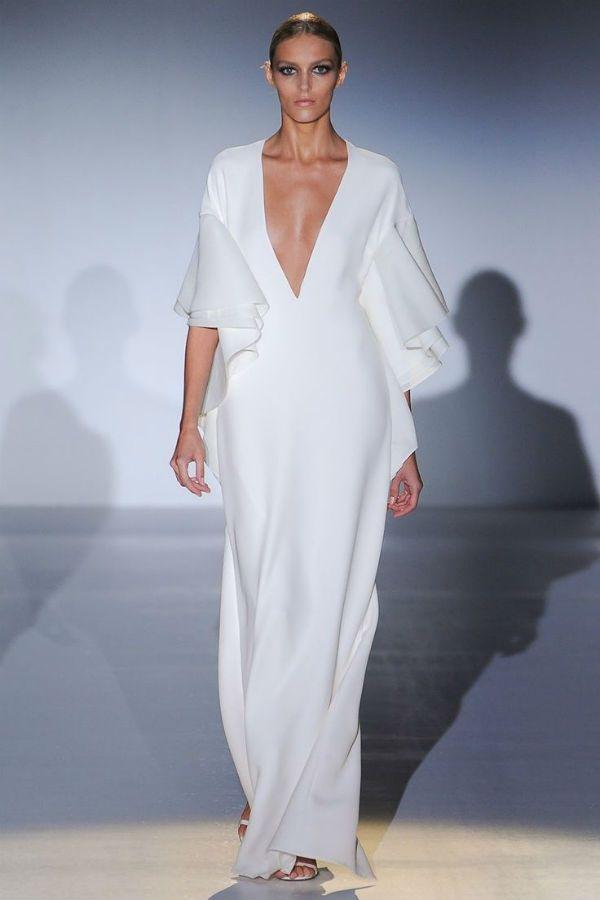 Белое платье ампир фото