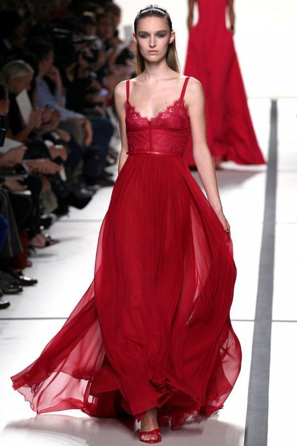 Красное платье ампир фото